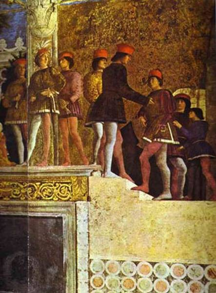 the gonzaga family and retinue detail 3 1465 74 XX mantua italy